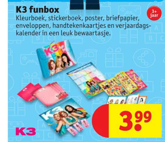 K3 speelgoed folder aanbieding bij Kruidvat details
