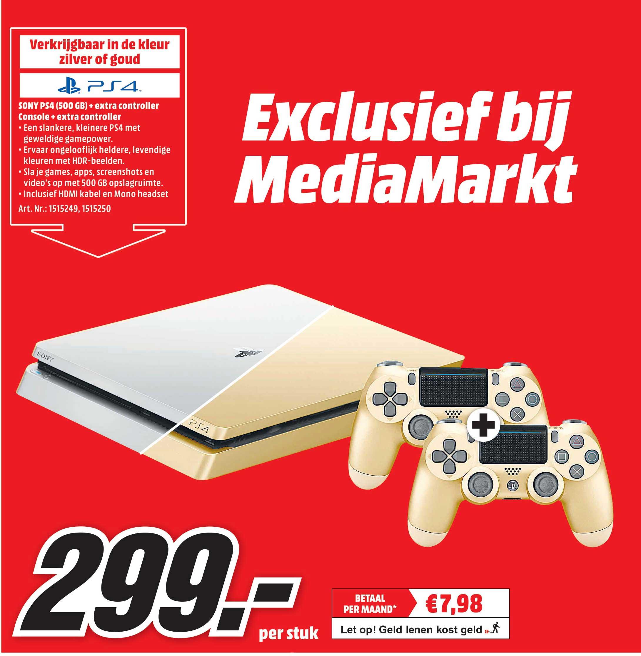 MediaMarkt Sony PS4 500 GB + 2 Controllers