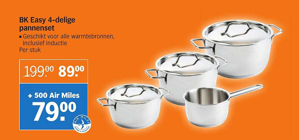 Albert Heijn BK Easy 4-Delige Pannenset
