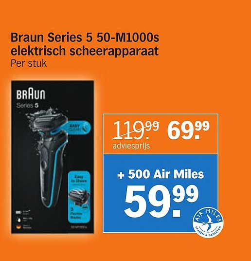 Albert Heijn Braun Series 5 50-M1000s Elektrisch Scheerapparaat