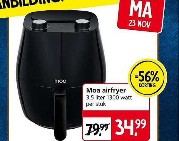 Jan Linders Moa Airfryer 56% Korting