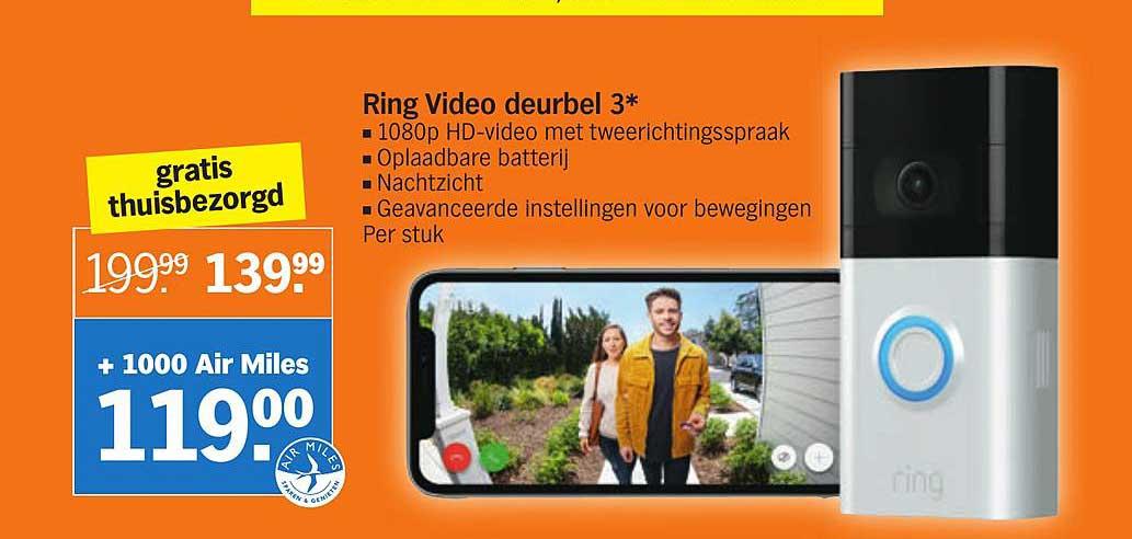 Albert Heijn Ring Video Deurbel 3*