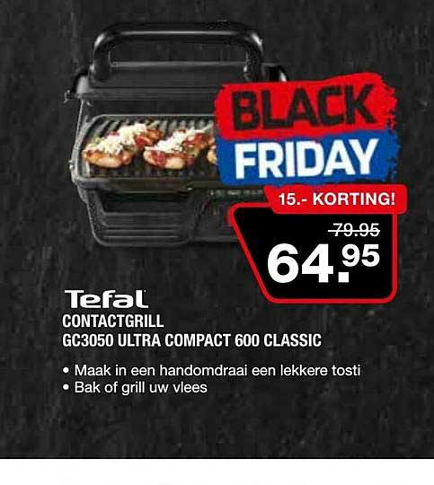 Electro World Tefal Contactgrill GC3050 Ultra Compact 600 Classic