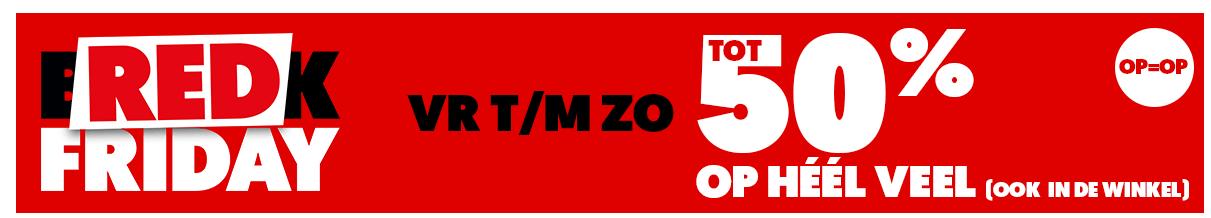 Mediamarkt Red Friday: Vr Tm Zo: Tot 50% Korting Op Heel Veel