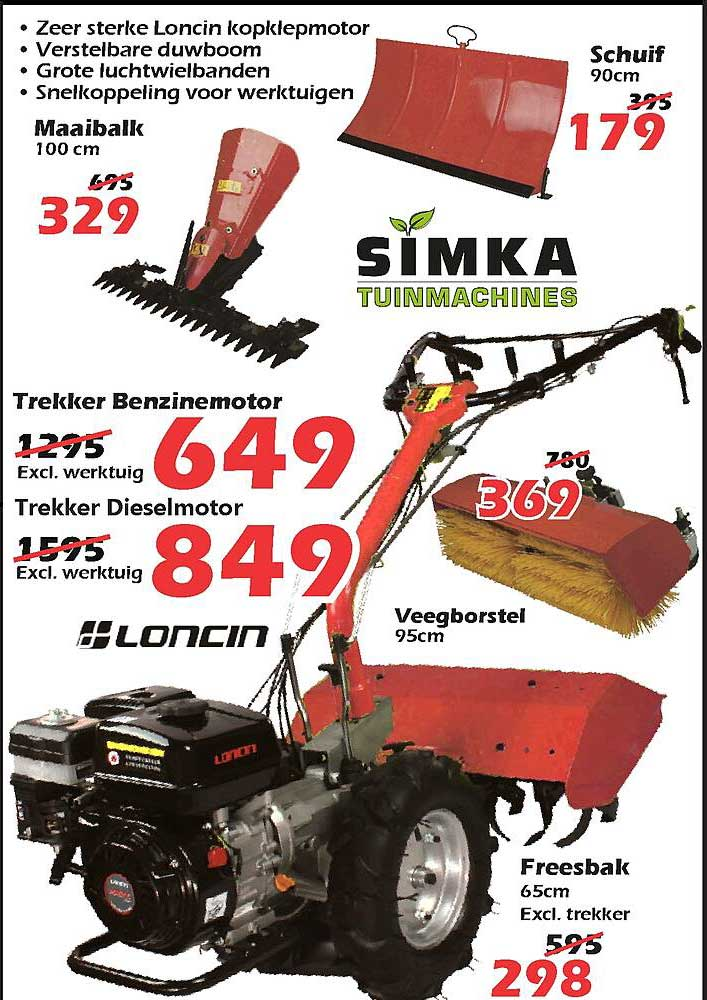 ITEK Trekker Benzinemotor, Veegborstel, Freesbak, Maaibalk, Schuif Of Trekker Dieselmotor