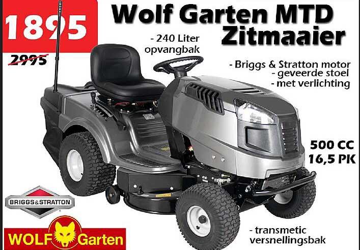 ITEK Wolf Garten MTD Zitmaaier