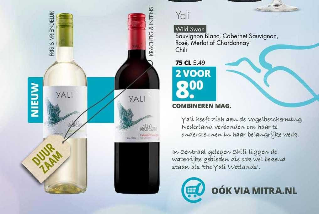 Mitra Yali Wild Swan Sauvignon Blanc, Cabernet Sauvignon, Rose, Merlot Of Chardonnay Chili