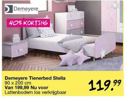 Van Asten Demeyere Tienerbed Stella 90 X 200 Cm