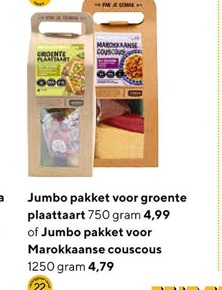 Jumbo Jumpo Pakket Voor Groente Plaattaart Of Jumbo Pakket Voor Marokkanse Couscous