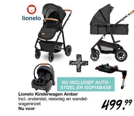 Van Asten Lionelo Kinderwagen Amber Incl. Onderstel, Reiswieg En Wandelwageninzet