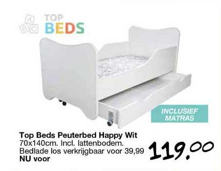 Van Asten Top Beds Peuterbed Happy Wit 70x140cm