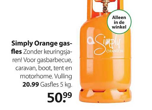 Boerenbond Simply Orange Gasfles
