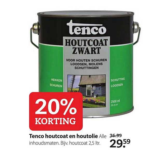 Boerenbond Tenco Houtcoat En Houtolie: 20% Korting