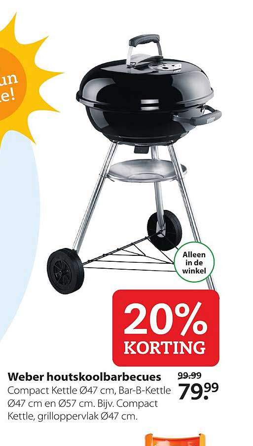 Weber houtskool barbecue folder aanbieding bij Praxis details