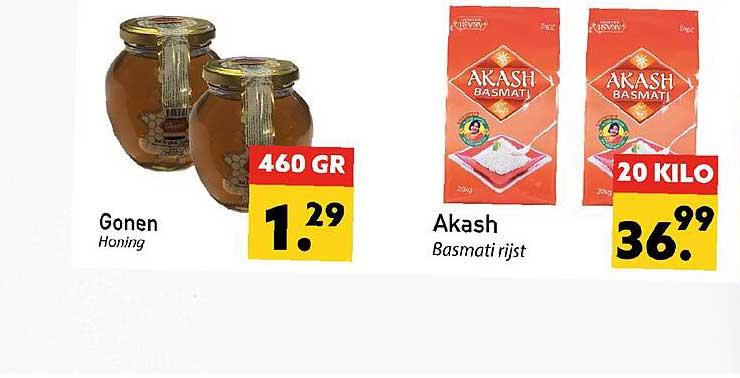 Tanger Markt Gonen Honing Of Akash Basmati Rijst