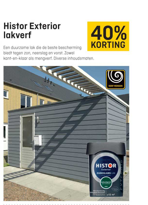 Hubo Histor Exterior Lakverf: 40% Korting