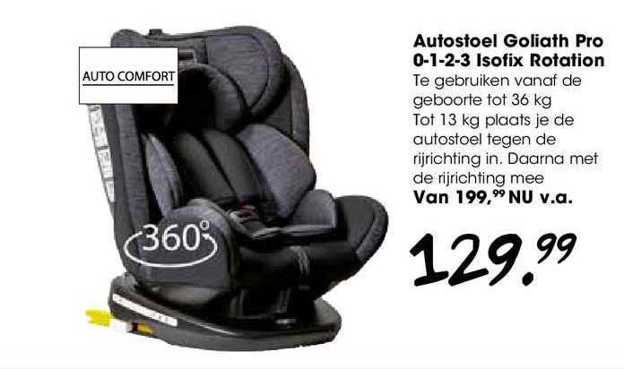 Van Asten Autostoel Goliath Pro 0-1-2-3 Isofix Rotation
