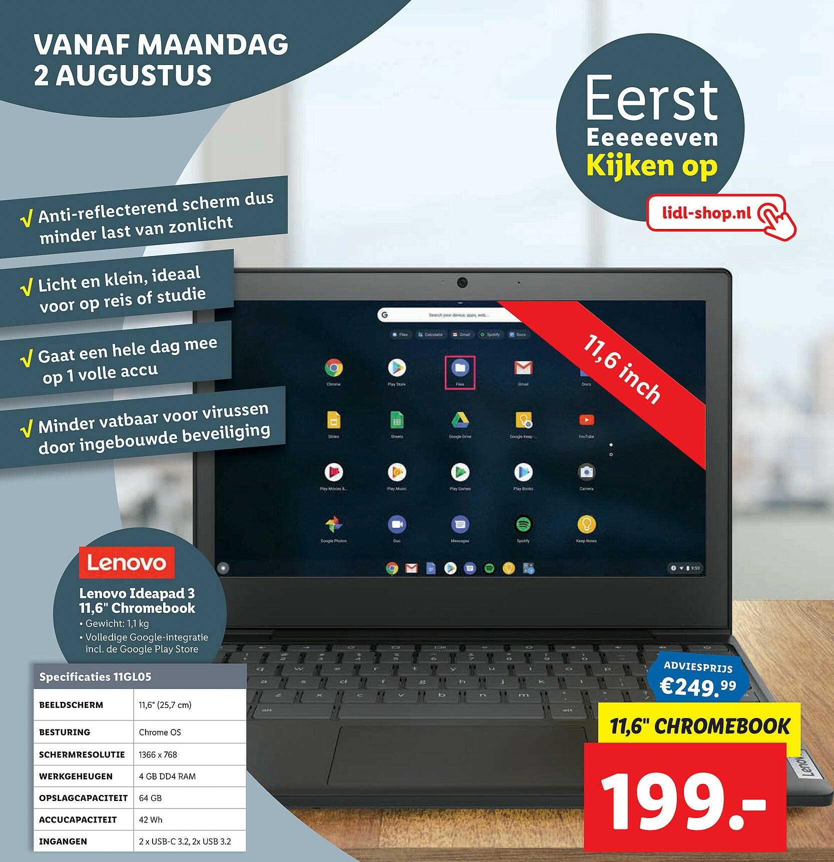 Lidl Shop Lenovo Ideapad 3 11,6