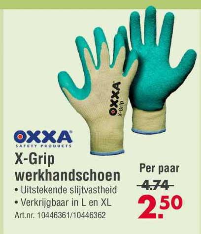 Enorm Oxxa X-Grip Werkhandschoen