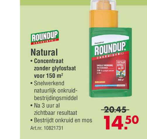 Enorm Roundup Natural Concentraat Zonder Glyfosfaat Voor 150 M²