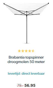 Wehkamp Brabantia Topspinner Droogmolen 50 Meter