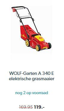 Wehkamp WOLF-garten A 340 E Elektrische Grasmaaier