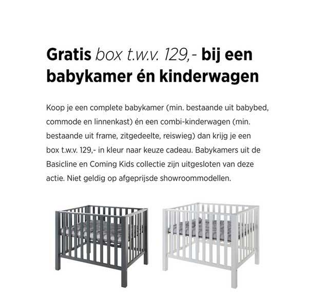 Babypark Gratis Box T.w.v. €129,- Bij Een Babykamer En Kinderwagen