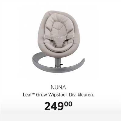 Babypark Nuna Leaf Grow Wipstoel