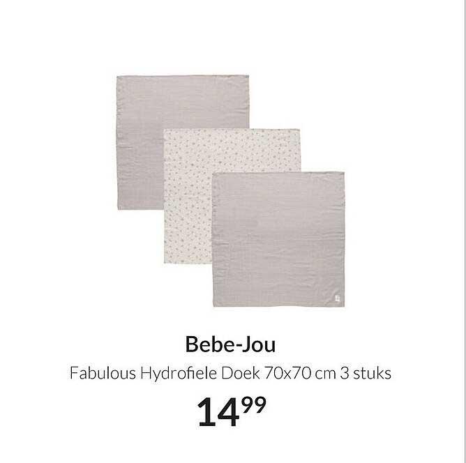 Babypark Bebe-Jou Fabulous Hydrofiele Doek 70x70 Cm 3 Stuks