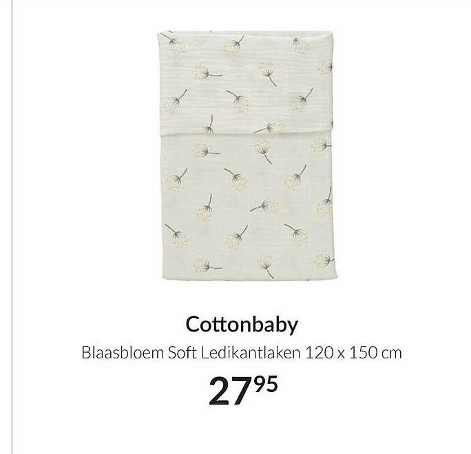 Babypark Cottonbaby Blaasbloem Soft Ledikantlaken 120 X 150 Cm