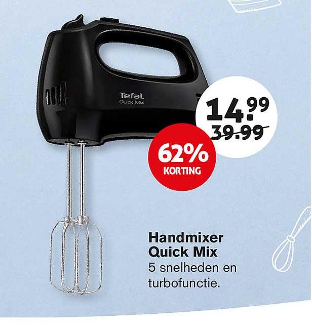 Hoogvliet Handmixer Quick Mix 62% Korting