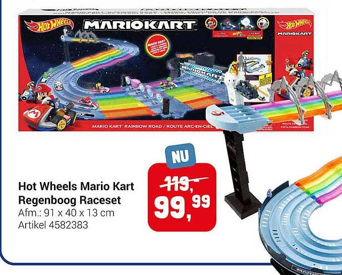 Lobbes Hot Wheels Mario Kart Regenboog Raceset