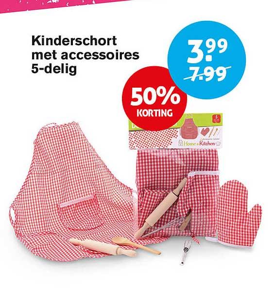 Hoogvliet Kinderschort Met Accessoires 5-Delig 50% Korting