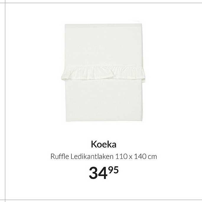 Babypark Koeka Ruffle Ledikantlaken 110 X 140 Cm