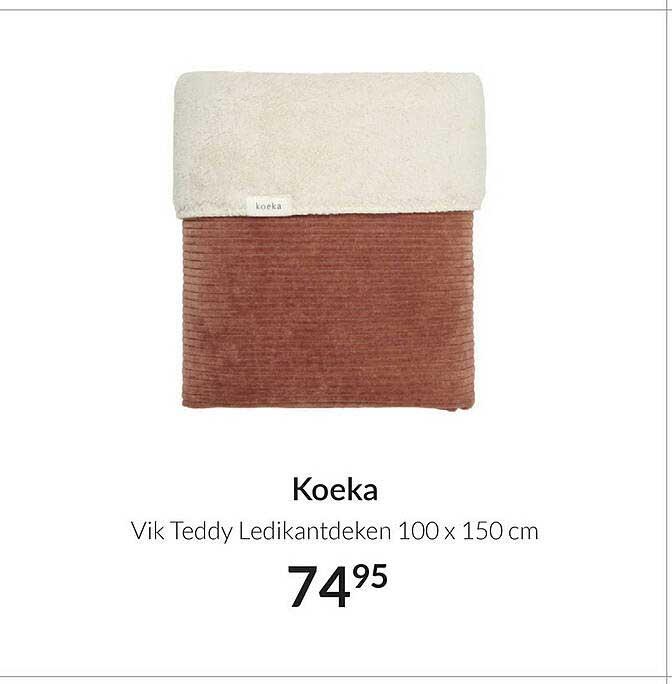 Babypark Koeka Vik Teddy Ledikantdeken 100 X 150 Cm
