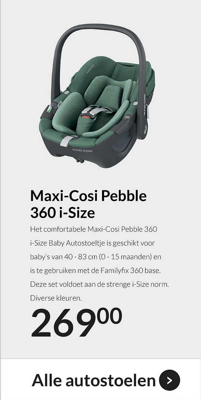 Babypark Maxi-Cosi Pebble 360 I-Size Autostoeltje