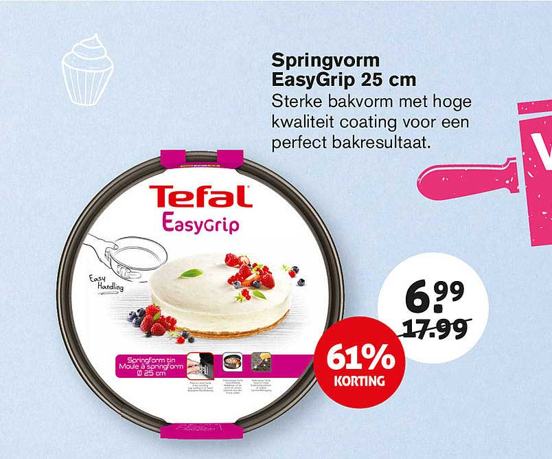 Hoogvliet Springvorm Easygrip 25cm 61% Korting