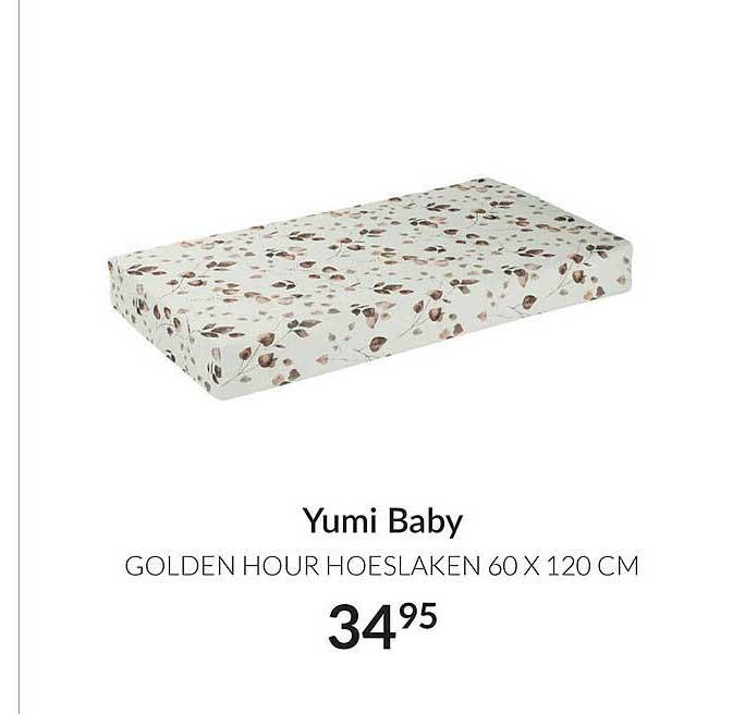 Babypark Yumi Baby Golden Hour Hoeslaken 60 X 120 Cm