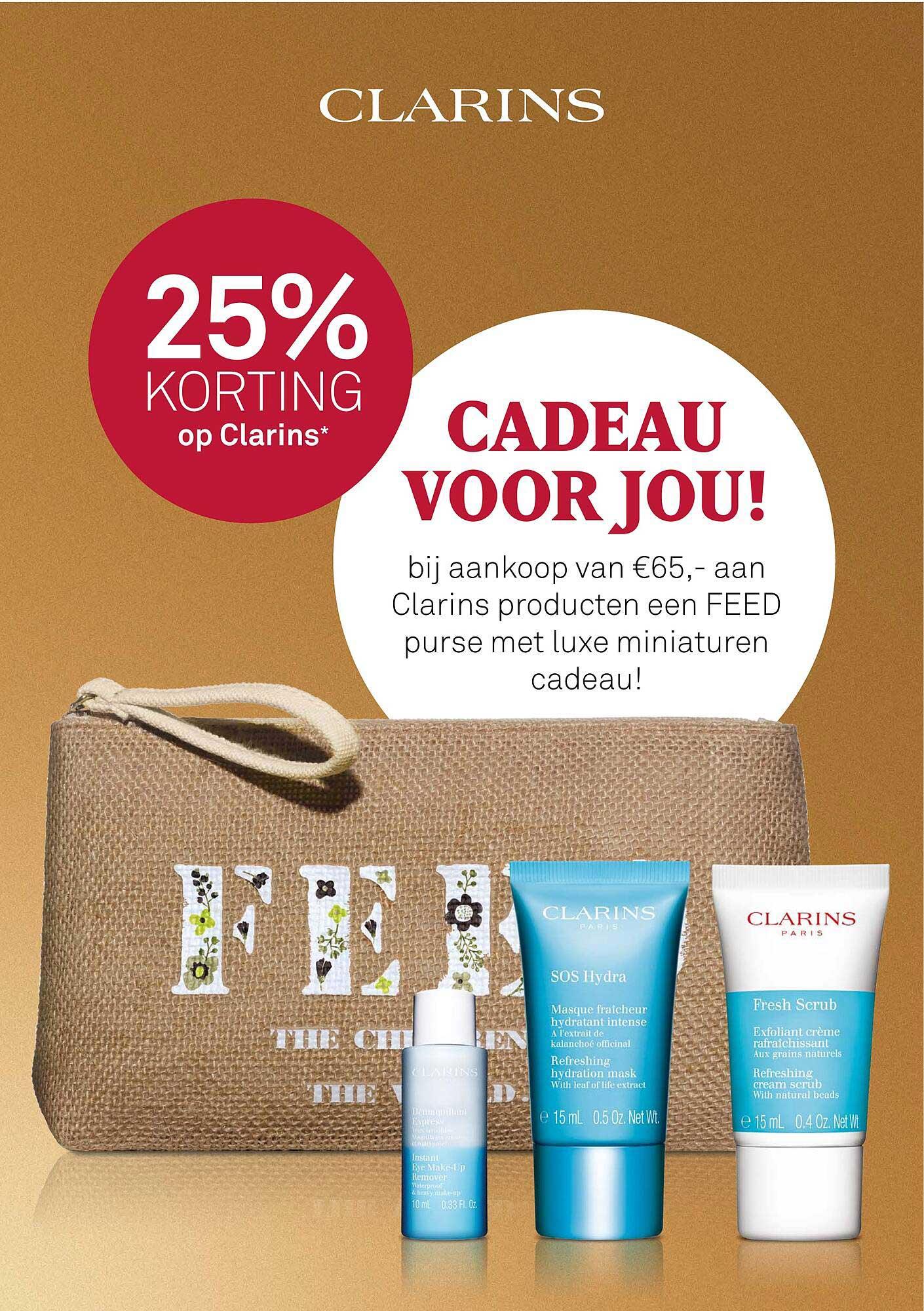 MOOI Parfumerie Op Clarins 25% Korting