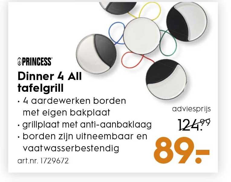 Blokker Princess Dinner 4 All Tafelgrill