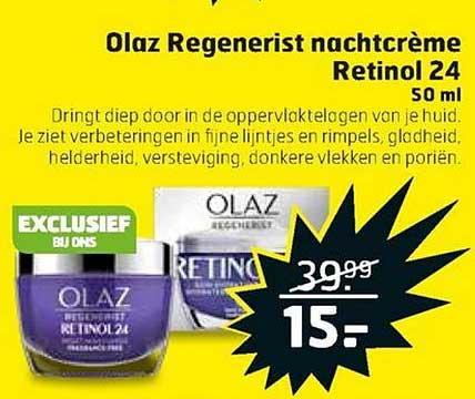 Trekpleister Olaz Regenerist Nachtcreme Retinol 24