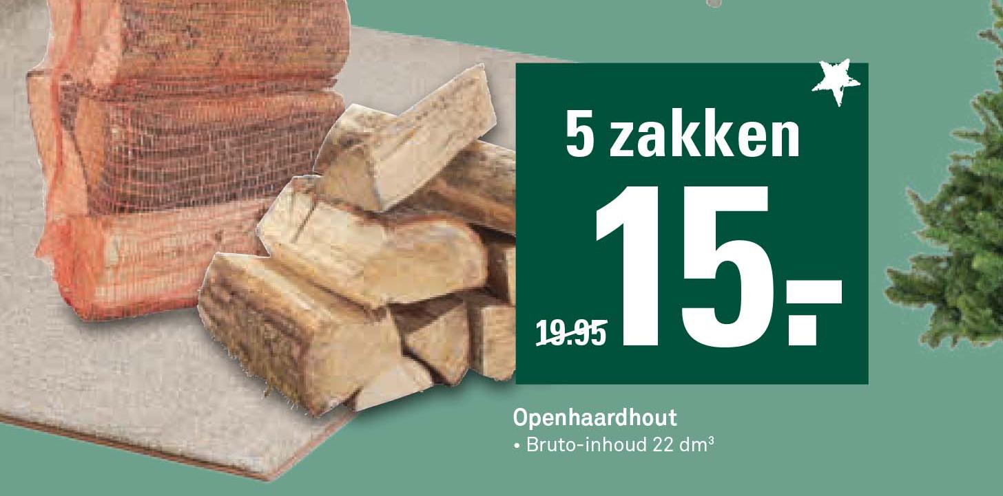 Karwei Openhaardhout: 5 Zakken €15,-
