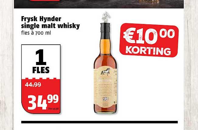 Poiesz Frysk Hynder Single Malt Whisky €10.00 Korting