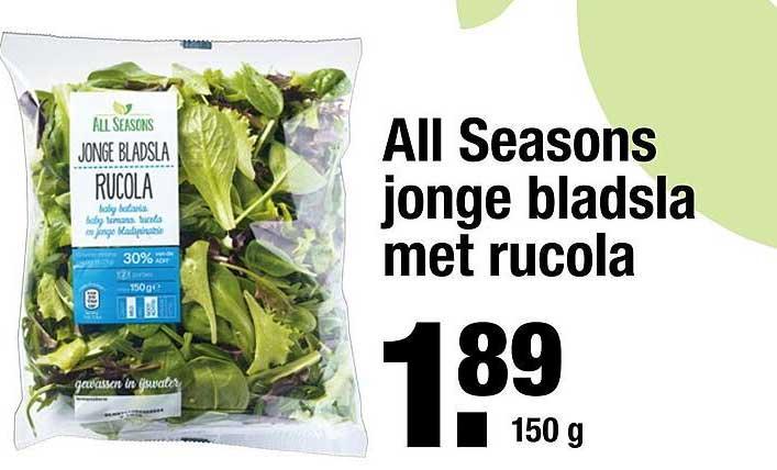 ALDI All Seasons Jonge Bladsla Met Rucola