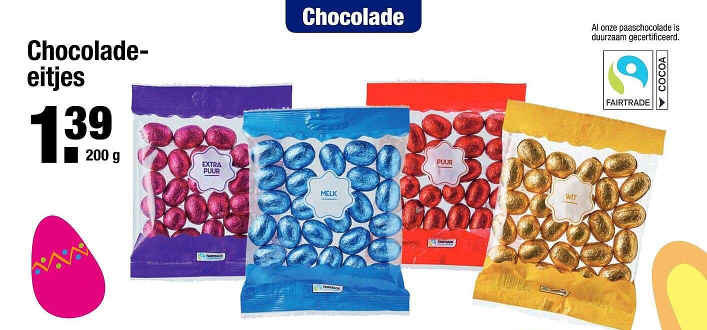 ALDI Chocolade Eitjes