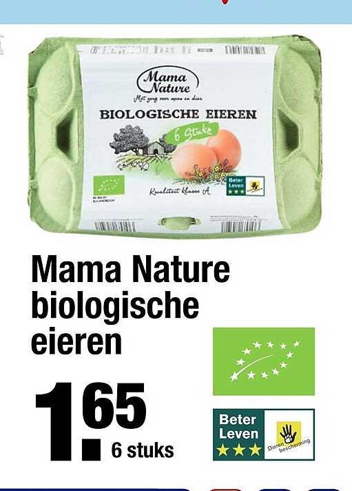 ALDI Mama Nature Biologische Eieren