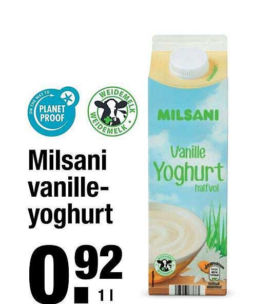ALDI Milsani Vanilleyoghurt