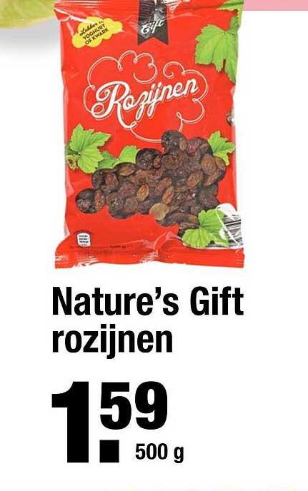 ALDI Nature's Gift Rozijnen