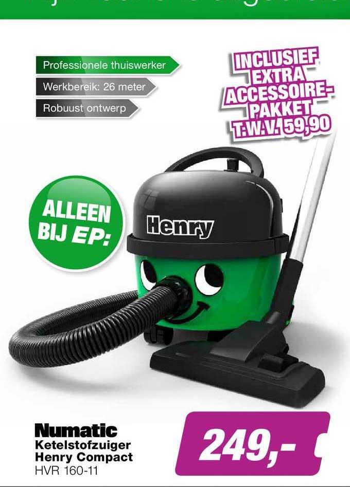 EP Numatic Ketelstofzuiger Henry Compact