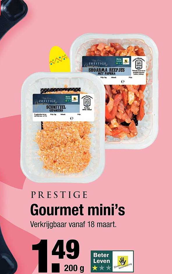 ALDI Prestige Gourmet Mini's